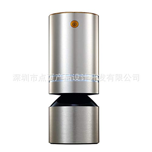 PANQQ Purificador de Aire del Coche Difusor de Filtro Ultrasónico Plata casera Fresca ambientador