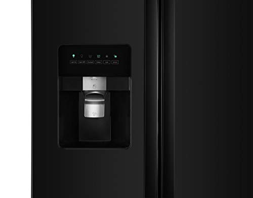 Kenmore 50049 25 cu. ft. Side-by-Side Refrigerator with Ice Maker with Window in Black