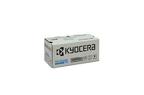 Kyocera TK-5240C Original Toner-Kartusche Cyan 1T02R7CNL0. Für ECOSYS M5526cdn, ECOSYS M5526cdw, ECOSYS P5026cdn, ECOSYS P5026cdw. Amazon Dash Replenishment-Kompatibel