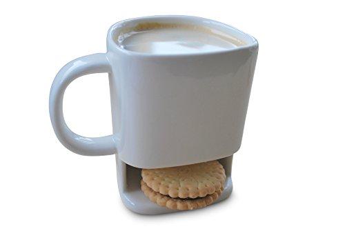 Tasse mit Keksfach Funice Keramik mit Fach für Gebäck
