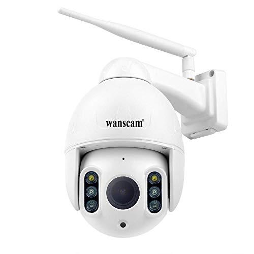 Cámara inalámbrica al Aire Libre, cámara Impermeable de vigilancia doméstica inalámbrica 1080P WiFi con visión Nocturna, detección de Movimiento, Acceso Remoto, Carcasa Impermeable IP66 Matal