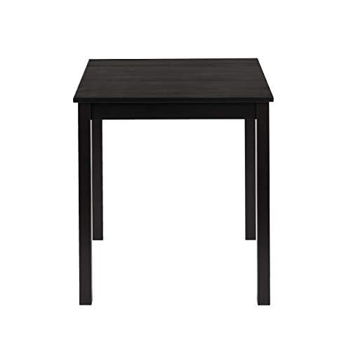 hagge home Esstisch Küchentisch Klein Tisch Wohnzimmer Nordisches Kiefernholz Massivholz, Holz Aus Nachhaltiger Waldwirtschaft, 68x68 cm, Höhe 75 cm, Schwarz
