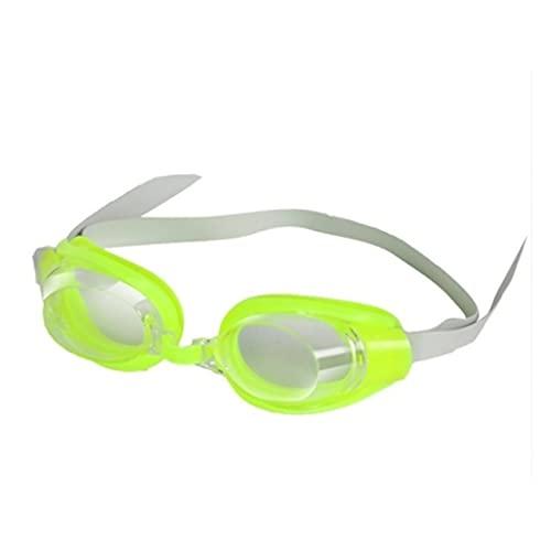 XUEXIU Gafas Ajustables Gafas De Natación Anti-Niebla Protege A Los Niños A Prueba De Agua De Silicona Espejado Nadar (Color : GR)