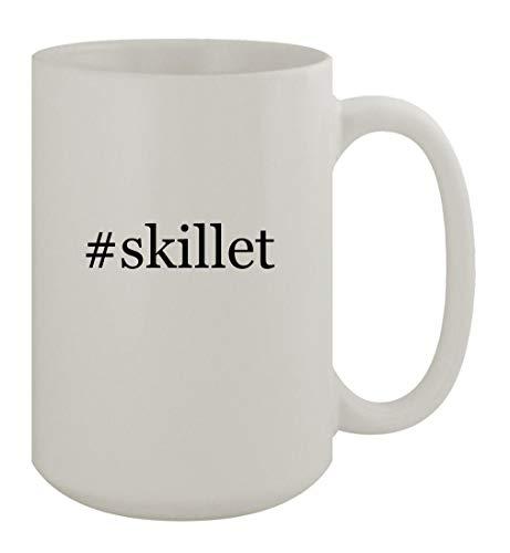 #skillet - 15oz Ceramic White Coffee Mug, White