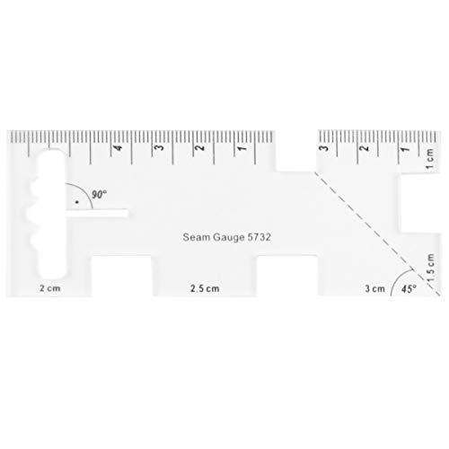 EXCEART Regla de Costura Acrílica para Acolchado Plantilla de Patchwork Regla Líneas de Rejilla Regla de Diseño de Ropa para Regla de Máquina de Coser Doméstica