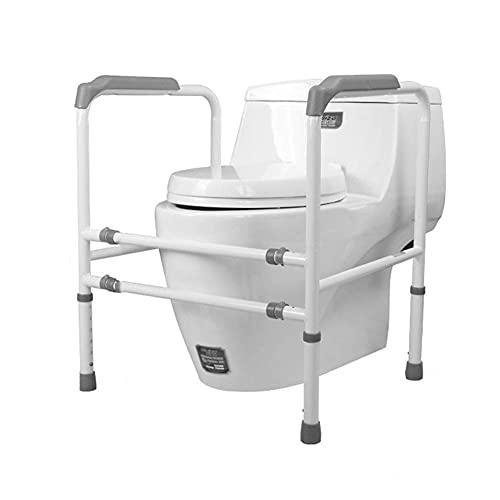 FYHH-JZHY Toiletten-Sicherheitsrahmen Toiletten-Sicherheitsgeländer Breitenverstellbare Höhe Toiletten-Sicherheitsbügel Behindertentoiletten-Handlauf Für Alle Toiletten Geeignet