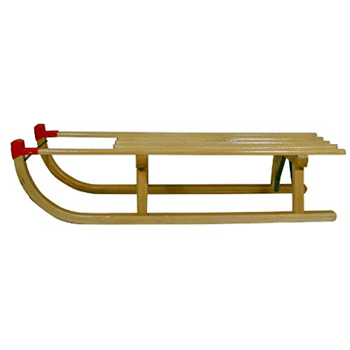Nijdam Schlitten Rodel Holz Davos 100 cm, 100x30x24 cm
