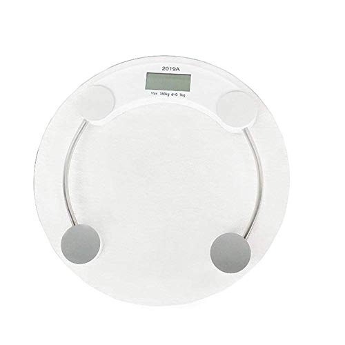 BINGFANG-W Discs Waage elektronische Digital-Waage, Körpergewicht Elektronische Waage, Personal Health Fat Diät-Gewicht-Skala-Badezimmer-Skala, Menschliches Gewicht Max 180kg, Transparent Abrasive