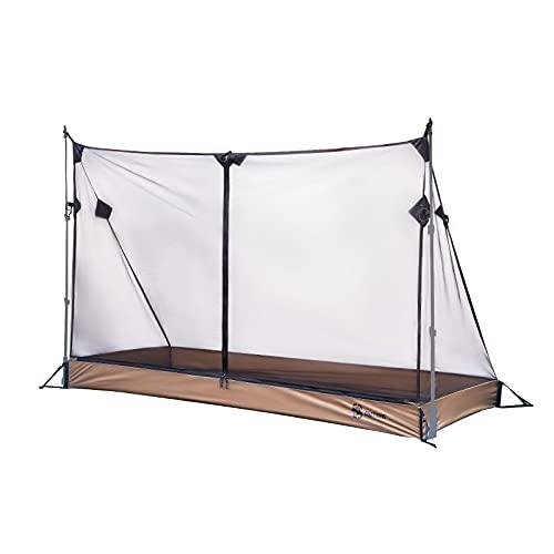 OneTigris Tienda de campaña interior mosquitera 01 Red Camping Shelter con tienda impermeable bañera para 2-3 estaciones