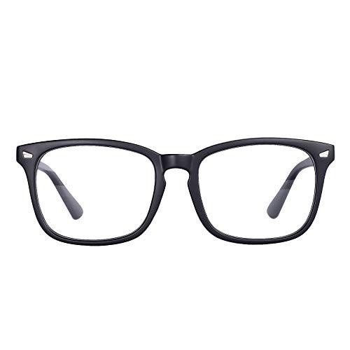 Maxjuli Blue Light Blocking Glasses,Computer Reading/Gaming/TV/Phones Glasses for Women Men( Matt Black )