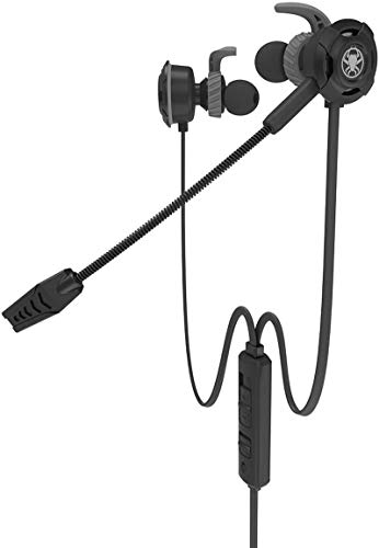 TYXL Headphones Gaming Earphones With Mic PS4 Portable In Ear Gaming Earbuds Headset Stereo Headphones With Detachable Microphone In-line Volume Control For Phone PC New Xbox One Playstation 4,Black