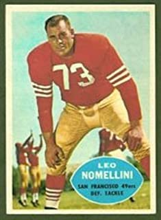 1960 Topps Regular (Football) Card# 121 Leo Nomellini of the San Francisco 49ers ExMt Condition