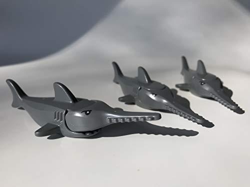 LEGO 3 Sägefische / 3 x Dunkelgrauer Sägefish / Sawfish