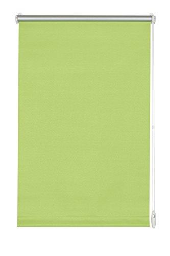 GARDINIA Thermo-Rollo mit Thermo-Rückseite zum Klemmen oder Kleben, Höchste Lichtreflektion, Energiesparend, Lichtundurchlässig, Alle Montage-Teile inklusive, EASYFIX Rollo Thermo, Apfelgrün, 90 x 210 cm (BxH)