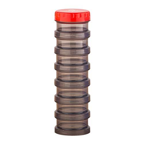 Verzegelde zeven roosters elk raster kan worden gedemonteerd en gemonteerd op Will Box draagbare een week met een doos van melk Poeder Eiwit Poeder Pills Drug Poeder 23.7 * 6.2CM