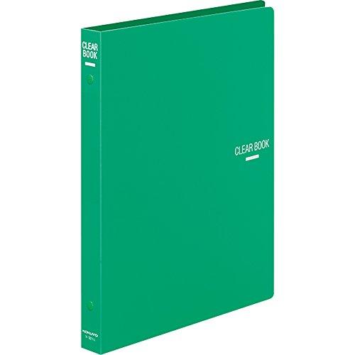 コクヨ ファイル クリヤーブック 替紙式 B5 26穴 18枚 緑 ラ-321G ラ-321G