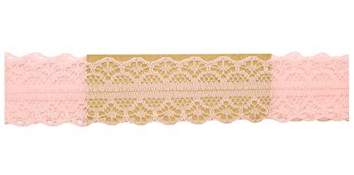 AERZETIX - C51011 - Encaje decorativo estilo ''Roma'' - 30mm x 8.5 metros - melocotón - proyectos creativos coser arte embalaje regalos fiesta cumpleaños