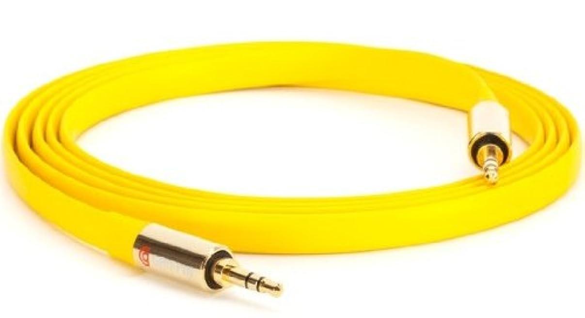 罹患率確立バリケードGriffin Technology グリフィン Flat AUX 6ft Yellow (GC20018) GC20018