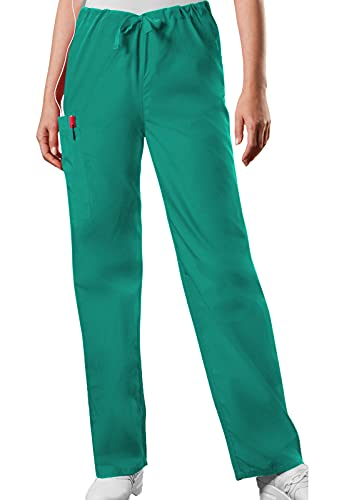 Cherokee Originals Unisex Drawstring Cargo Scrubs Pant, Surgical Green, Large