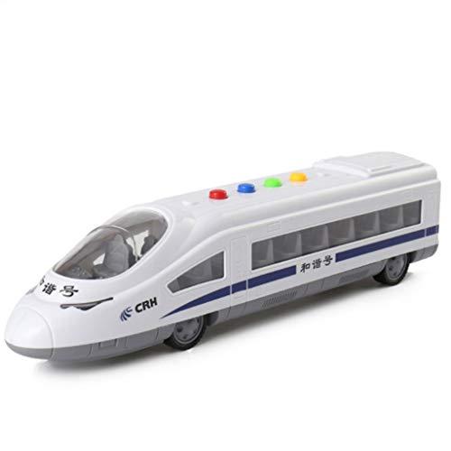 Glzcyoo Train Flash Lumière Son modèle en Europe Train, Train à Jouets avec Son et lumières Clignotantes/Go Train Jouet for Enfants Enfants, Cadeaux créatifs for 3-8 Ans garçons Filles Cadeaux
