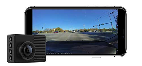 Garmin Dash Cam 66W, Extra-Wide 180-Degree Field of View In 1440P HD, 2' LCD Screen and Voice Control, Very Compact with Automatic Incident Detection and Recording