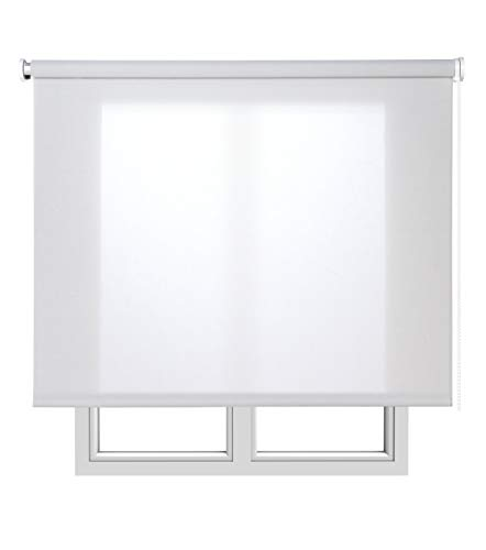 Estores Basic Screen Estor Enrollable, Tela, Gris, 150x180 cm