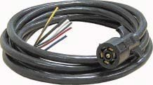 Elkhart Supply Corp 7Way Sae Trialer Cable Cord & Plug- 6 Feet