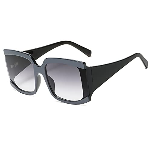 AMFG Gafas de sol de las señoras del cuadrado del marco del marco retro de las señoras de las señoras de las señoras de la calle del macho Espejo de conducción al aire libre (Color : A)