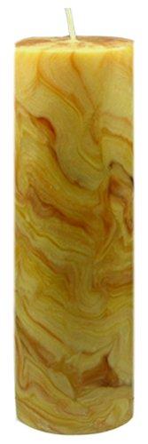 Bienenwachs Stumpenkerze, 200 x 70 mm, marmoriert, reine Handarbeit