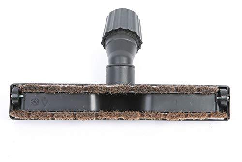 Högkvalitativt parkettmunstycke slätt golvmunstycke som passar alla dammsugare med universalanslutningar 30 till 38 mm – äkta rosshaar – antistatisk för perfekt dammsugning