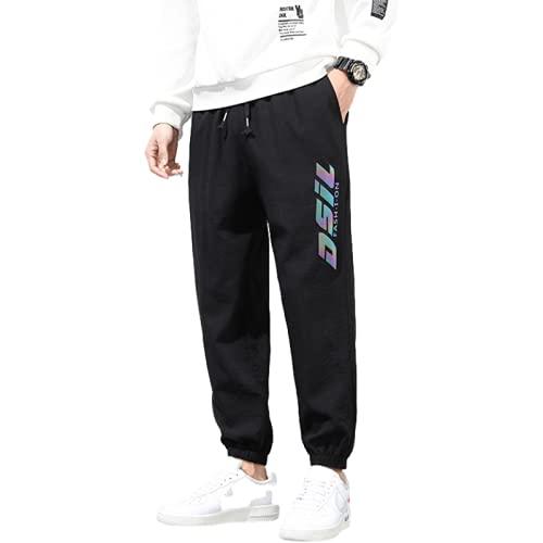 Pantalones Casuales para Hombre Four Seasons con Estampado para Correr al Aire Libre Pantalones Sueltos de Hip-Hop de Trabajo Informal con Bolsillos y cordón L