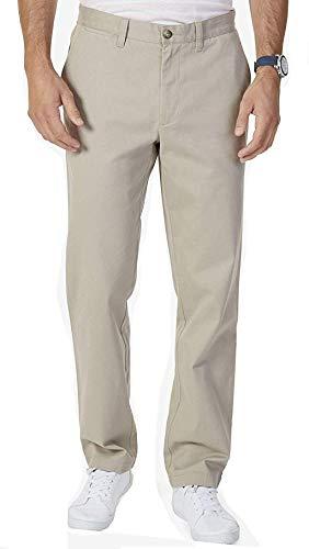 Nautica - Pantaloni da uomo elasticizzati Soft Twill, vestibilità classica - Beige - 38W x 32L