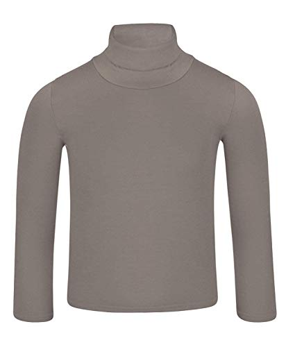 LOTMART Kids Plain Basic Lange Mouw Slim Fit Coltrui Shirt