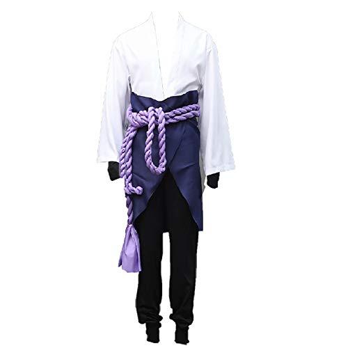 Instalación Japanische Anime Naruto Uchiha Sasuke Herren Cosplay Kostüm Outfits für Halloween Cosplay Party Anzüge