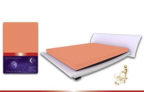 Moon Premium Frottee Spannbettlaken/Spannbetttuch (140x200-160x200, Zimt)