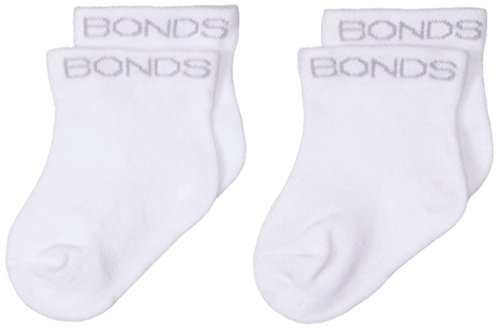 Bonds Unisex Baby Classic Bootee White, 000