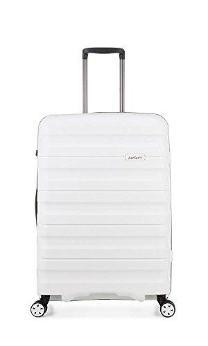 Antler Juno II Monos, Durable & Lightweight Hard Shell Suitcase - Colour: White, Size: Medium