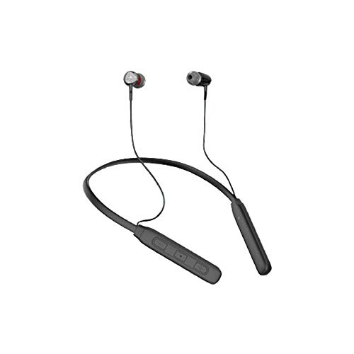 Aroma Yellow Series NB 119 PRO Wireless Bluetooth In Ear Neckband Headphone with Mic (Black)