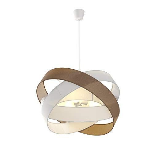 Lampada a sospensione 'Simaria' dimmerabile (Moderno) colore Marrone, in Tessuto ad es. Soggiorno & Sala da pranzo (3 luci, E27) di Lindby   lampada a sospensione in tessuto, lampada da soffitto