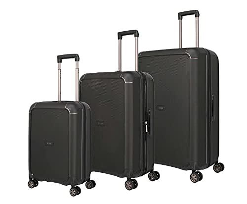 """TITAN """"COMPAX""""-Trolleys von TITAN®: stabile Hartschalen-Koffer in futuristischer Optik in 3 Farben Koffer-Set, 77 cm, 222 l, Black"""