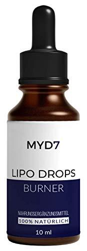 Lipo Drops Burner | Keto Tropfen | Ketogen | SCHNELL & EXTREM | Kohlenhydratblocker | 10 ml (1 Flasche)