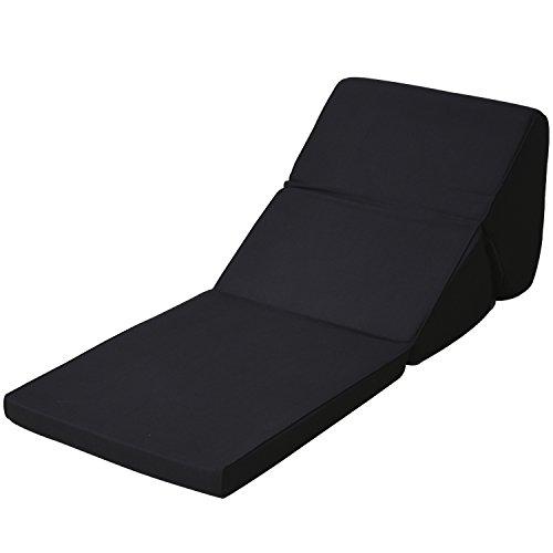 [アキレス] ごろ寝マット テレビ枕 座椅子 腰痛 在宅勤務 ブラック AK-TV BK