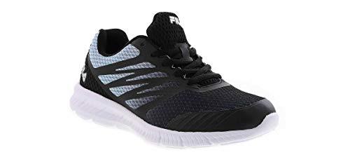 Fila Womens Memory Fantom 3 Running Shoe 7.5 Black/Light Blue/Silver