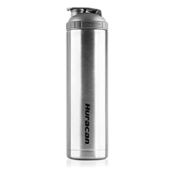 Huracan Shaker Bottle  Double Wall Vacuum Insulated Stainless Steel Wide Mouth Removable Mixer Silicone Grip BPA Free - 22oz