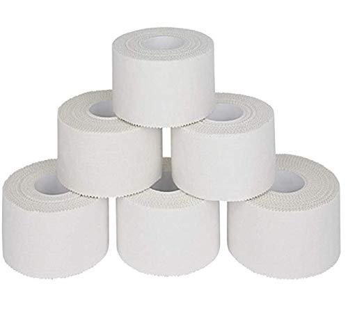 6 Pezzi Elastica Tape Sportivo, Benda Coesivo Adesivo Tessuto - Ogni 3.8cm x 9.1m
