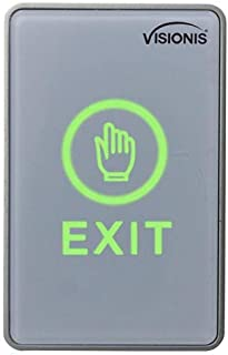 Visionis VIS-7026 Indoor Touch Sensitive Type Standard Size Push to Exit Button for Door Access Control with LED NC COM an...