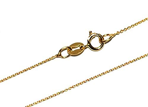 Markylis - Real Stunning 9ct Gold FINE Micro Belcher Link Anchor Chain Necklace - 0.8mm - 20inch - 20'