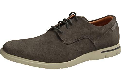 Clarks Vennor Walk, Zapatos de Cordones Derby para Hombre, Gris (Grey Suede-), 47 EU