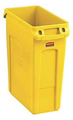 Rubbermaid Commercial Products Slim Jim Trash Can Waste Receptacle with Venting Channels