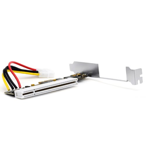 CSL - PCI-Express PCIe zu PCI Schnittstellenkarte - Low Profile Format - Adapter Adapterkarte - Netzwerk- ISDN-Karte Grafikkarte I O-Contollerkarte Videoschnittkarte